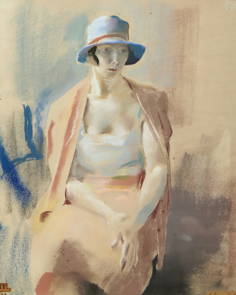 Artist Edith Granger-Taylor: Olive in a Blue Hat