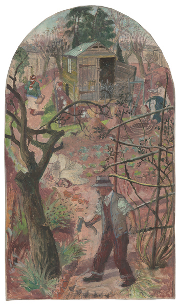 Artist Evelyn Dunbar: The Woodcutter and the Bees, spring 1933 [HMO 309]