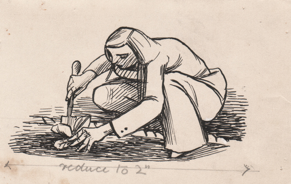 Artist Evelyn Dunbar: Vignette for page 49 of Gardeners' Choice, 1937 [HMO 253]