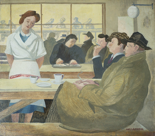 Artist Mary Adshead: British Restaurant Coventry After Dinner, 1941