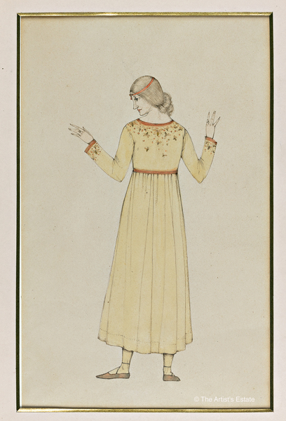 Artist Winifred Knights: The Artist in a Dress of her own Design