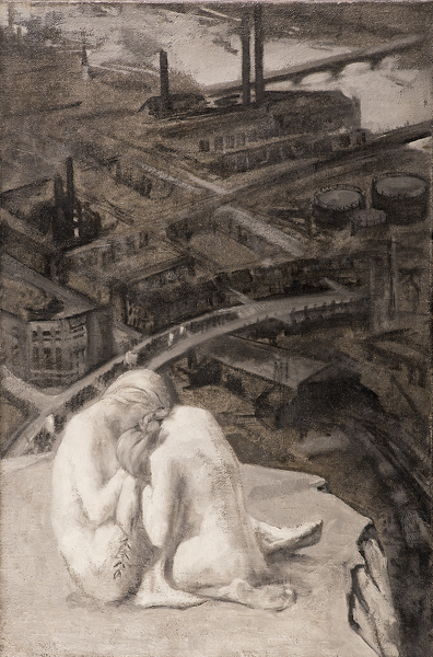 Artist Dorothea Frances MacLagan: An allegory: Truth and Beauty comforting each other, cica 1920