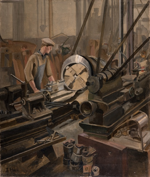 Artist Isobel Atterbury Heath: Man at a lathe