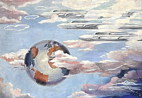 Artist Marjorie Hayes: Wings Over theWorld, mid-1930s