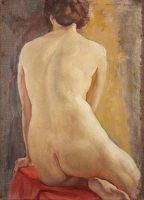 Artist Margaret Maitland Howard: Female Nude, Seated