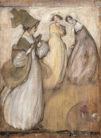 Artist Edith Granger-Taylor: Three Figures, c. 1910