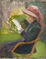 Artist Edith Granger-Taylor: Seated Woman, c. 1910