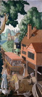Artist Mary Adshead: An English Holiday - Village Inn, 1928