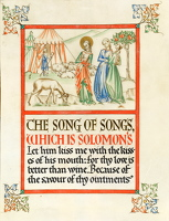 Artist Dorothy Mahoney: Song of Songs, from the Queen Mary Psalter, late 1920s