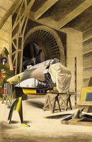 Artist Barbara Jones: The Wind Tunnel - Royal Aircraft Establishment Farnborough, 1944