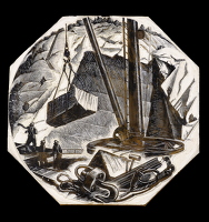 Artist Clare Leighton: Marble Quarrying, BPL604, 1949-50