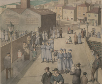 Artist Winifred Knights: Leaving the Munitions Works, 1919