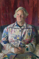 Artist Evelyn Dunbar: Portrait of a Retired Schoolmistress c.1955 [HMO 782]