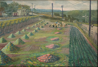 Artist Evelyn Dunbar: Land Workers at Strood, c. 1938 [HMO 762]