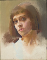 Artist Edith Granger-Taylor: Self Portrait, 1914