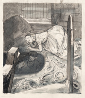 Artist Evelyn Dunbar: Study for an illustration for Emily Brontë's Wuthering Heights, a commission from the magazine Signature, 1936[HMO 510]