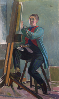 Artist Evelyn Dunbar: Self-portrait, 1958 [HMO 766]