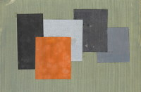 Artist Kathleen Guthrie: Original design for 5 squares, late 1960s