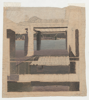 Artist Winifred Knights: Study of the exterior of a house by Lake Piediluco
