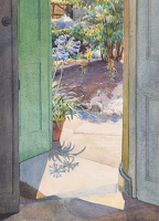 Artist Phyllis Dodd: Summer Doorway with African Lilies, c.1948