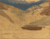 Artist Winifred Knights: Landscape, Piediluco, 1924