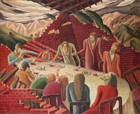 Artist Helen Blair: Scene from the Book of Job, circa 1935