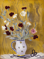 Artist Mary Adshead: Still life with Carnations, circa 1935