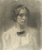 Artist Edith Granger-Taylor: Self Portrait, 1911