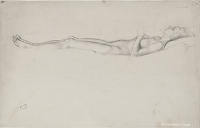 Artist Winifred Knights: Study of sleeping nude for Jairus Daughtert