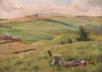 Artist Phyllis Dodd: In the Pentlands near Liberton Tower