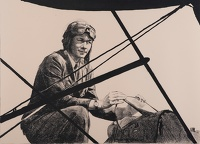 Artist Ethel Leontine Gabain: Captain Pauline Gower of the Women's Air Transport Auxiliary, circa 1940